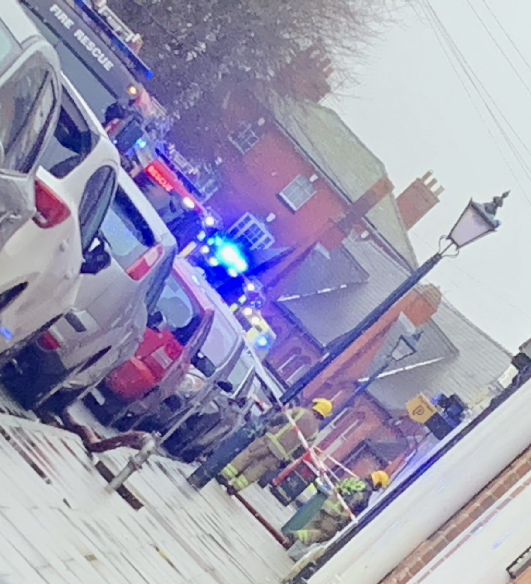 Fire at town centre property causes street closure