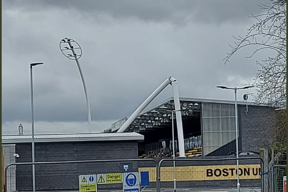 Floodlight tower collapse triggers investigations for Boston United