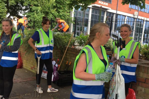 Staff from Lincolnshire Co-Operative have donated time to help this years Boston in Bloom campaign