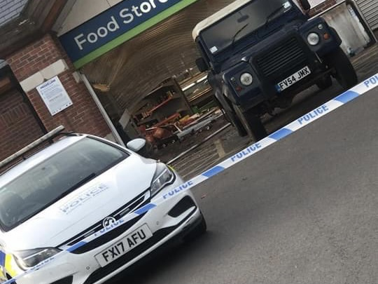 Ram Raid for attempted ATM Theft at Village Store